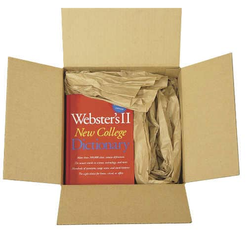 Image of a wrapped book with paper