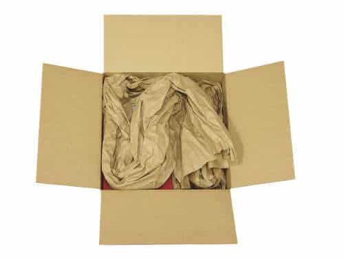 Image of a cardboard box filled with FillPak paper