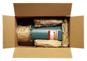 Kleiner Motor verpackt mit PadPak Papier