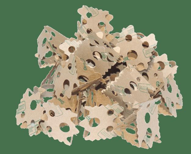 Prismen (Dreiecke) aus der ExpandOS Verpackungsmaschine