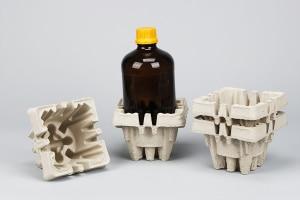 Faserform für zerbrechliche Flaschen