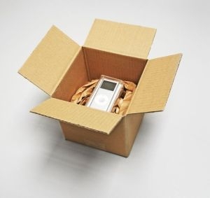 Bedienelement verpackt mit FillPak Papier