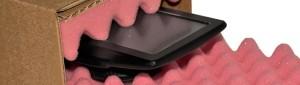 Karton mit Schaumstoffeinlage zum polstern