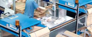 Mehrere PadPak Senior in Verpackungsumgebung installiert