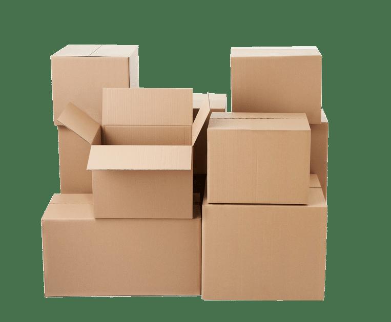 Abbildung von verschiedenen Kartongrößen und stärken