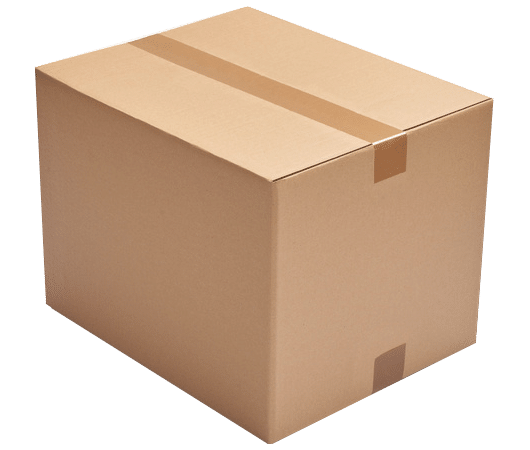 Verpackung mit Klebeband verschlossen