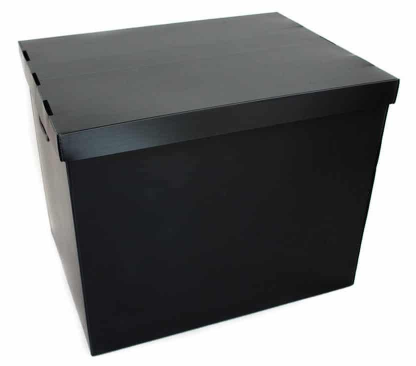 Verschließbare Transportverpackung für die mehrfache Verwendung aus Hohlkammerplatten