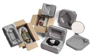 Zwei Komponenten Schaum. Anpassungsfähige Verpackung.